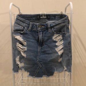 Ripped Denim Hollister Skirt
